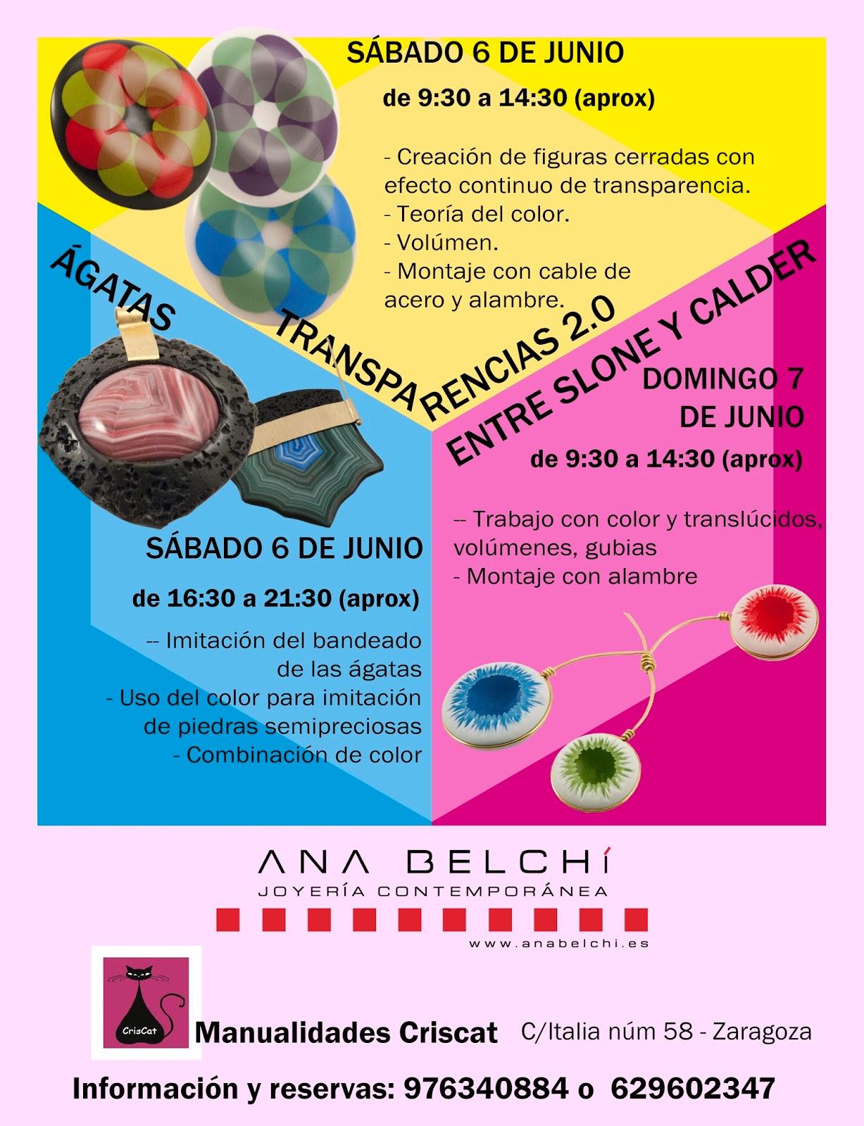 Ana Belch Cursos En Junio Zaragoza Valencia Alcobendas  ~ Cursos De Manualidades En Valencia