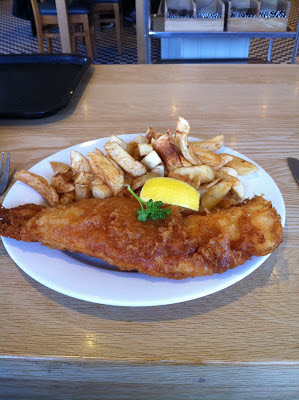 Proper seaside fish and chips