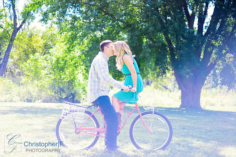 Chicago Bike Engagement Photo