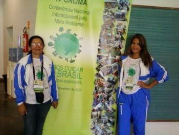 NOSSA PROFESSORA E ALUNA NA IV CNIJMA - BRASÍLIA