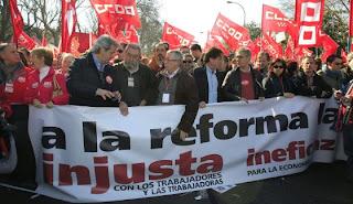 Los sindicatos, contentos y sorprendidos ante la respuesta contra la reforma