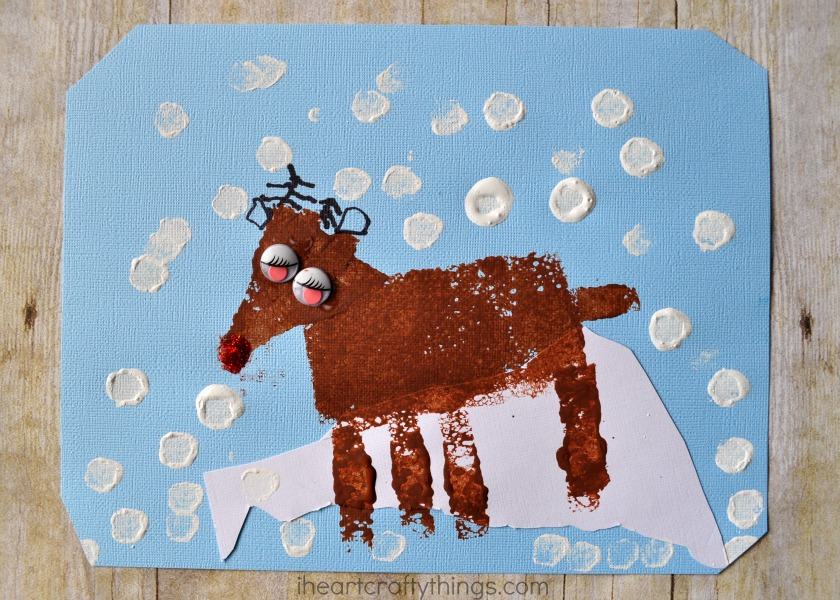 Sponge Painted Reindeer Craft For Kids I Heart Crafty Things