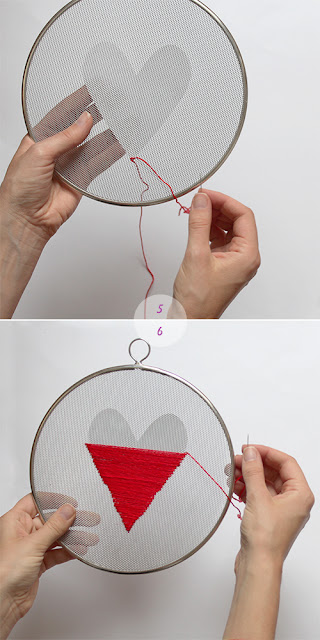 valentine's day wall decor, crafty ideas, embroidery