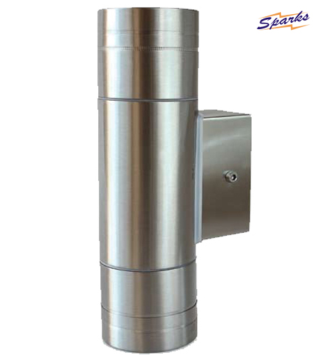 Stainless Steel Longer Wall Twin Spotlight