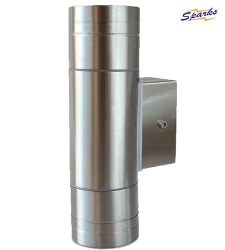 Stainless Steel Longer Wall Twin Spotlight