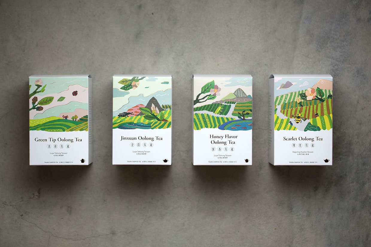 FongCha Tea On Packaging Of The World Creative Package