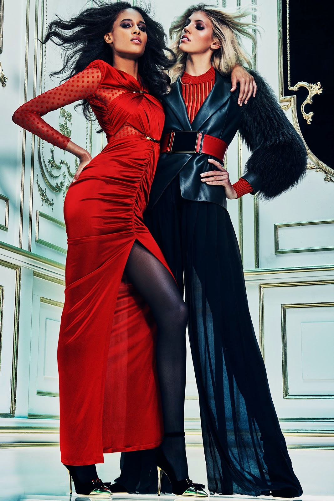 Fashion Model @ Devon Windsor And Cindy Bruna For Balmain Pre-Fall 2015