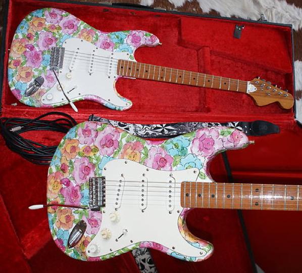 Guitar Blog Kay Strat Copy With Flowery Custom Paint