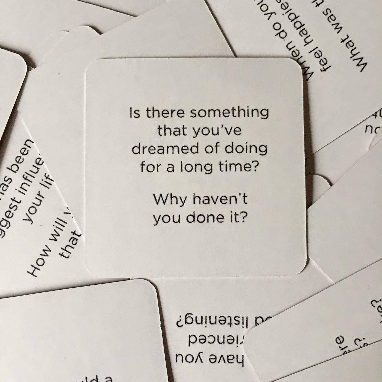 Curiosity Cards example