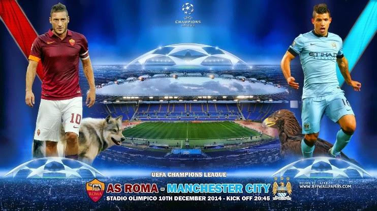 Roma vs Manchester City Liga Champions 2015