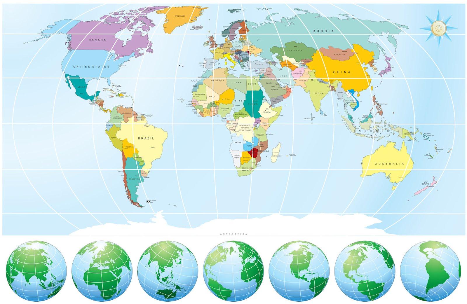 Banco de imgenes Mapa del mundo para maestros y estudiantes
