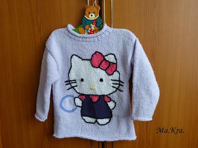 sweterek na drutach, Hello Kitty