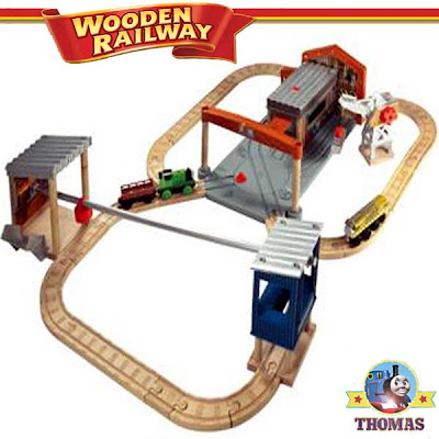 Learning Curve kids entertaining toy Thomas the tank engine wooden railway set Percy the tank engine