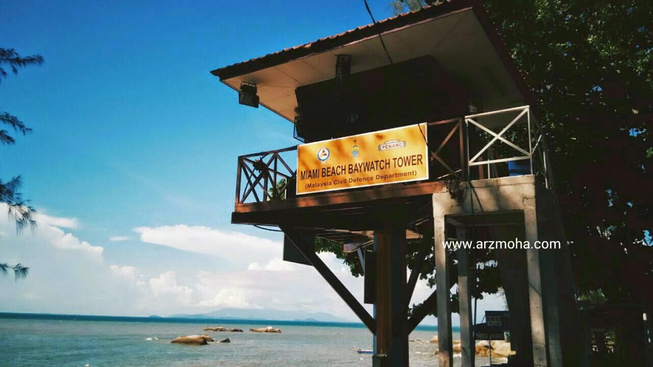 Menara Pemerhati JPAM, Pantai miami pulau pinang, gambar cantik, arzmoha, photgraphy, lifestyle, visit malaysia,