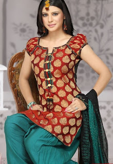 Half Sleeve Salwar Kameez design