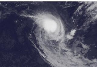 KOJI-JONI jetzt starker Wirbelsturm - Mauritius weiterhin nicht bedroht, Koji, Joni, aktuell, Satellitenbild Satellitenbilder, März, 2012, Indischer Ozean Indik, Zyklonsaison Südwest-Indik, Vorhersage Forecast Prognose, Zugbahn, Verlauf,