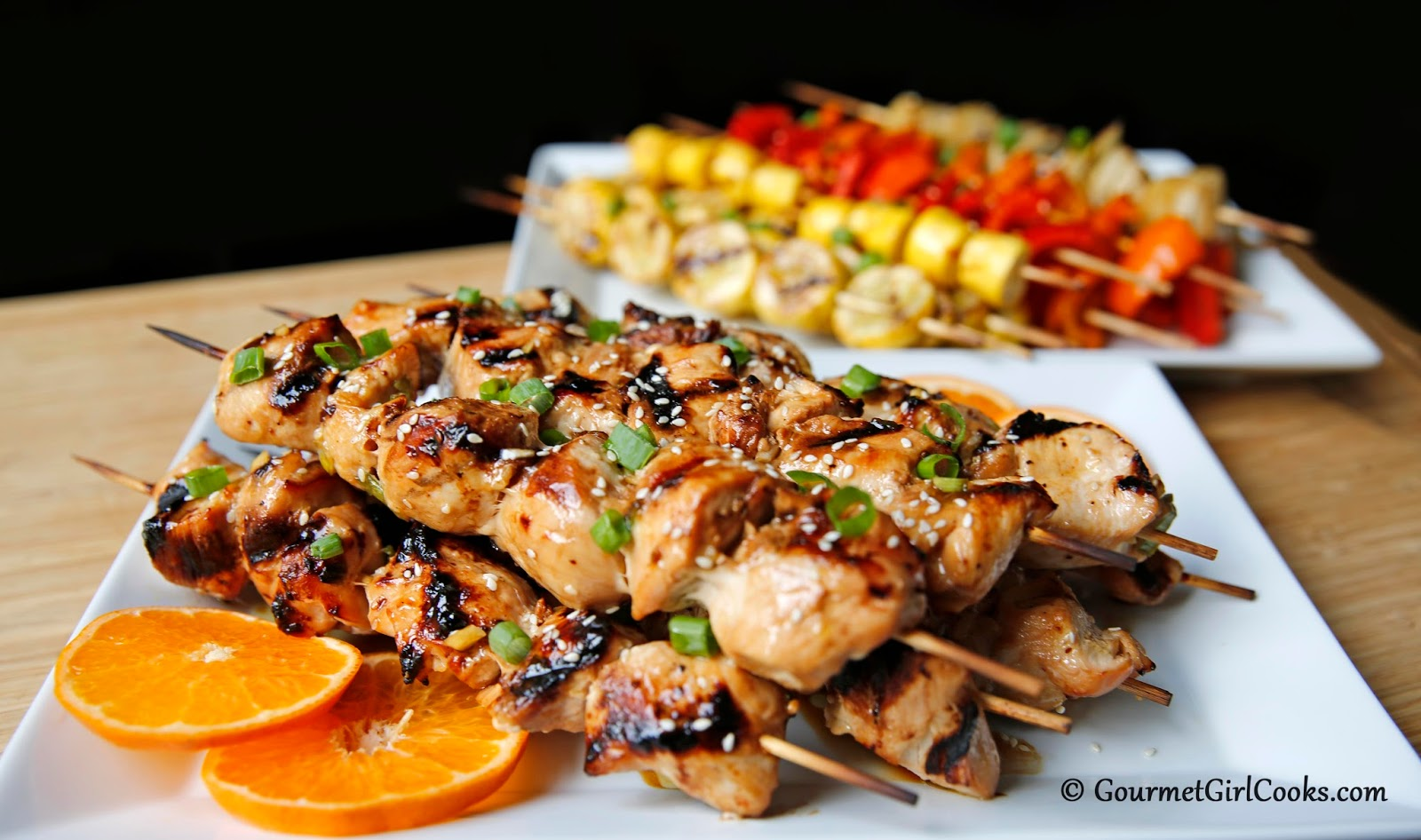 Gourmet Girl Cooks: Grilled Asian Style Chicken Kabobs
