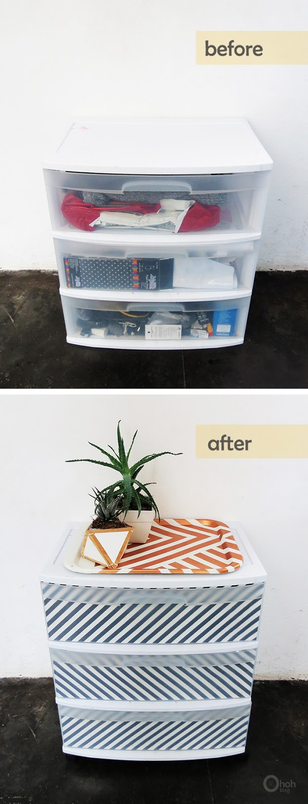 How to upgrade plastic drawers