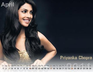 priyaka chopra 2012 calender, wallpaers