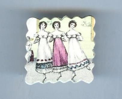 Dancing Women Brooch