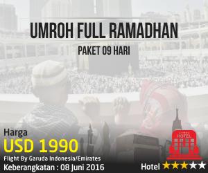 Umroh Full Ramadhan Bersama Rabbanitour Paket 9 Hari