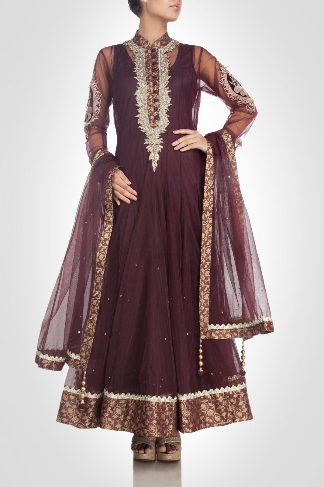 Indian Designer Pam Mehta Anarkali Dresses Online Shopping