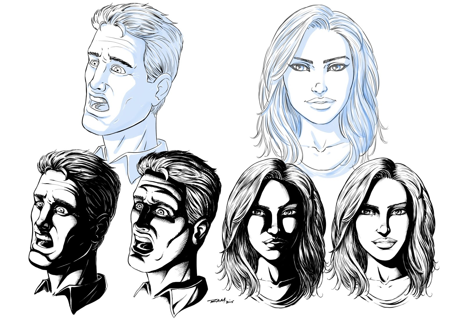 Ram Studios Comics: How to Draw Shadows on Comic Book Faces by ...
