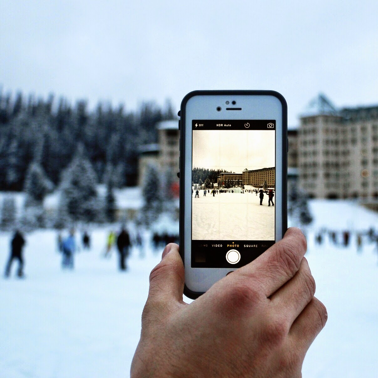 Ice-skating at Lake Louise in Alberta Canada by Jessica Mack aka SweetDivergence