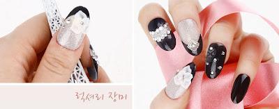Black Rose, Black Rose Nail Art, Rose Nail Art