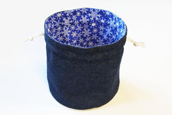 https://www.etsy.com/listing/256485573/denim-white-snowflakes-bright-blue