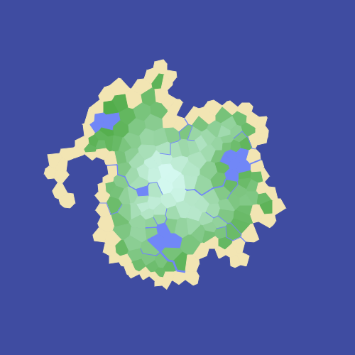 Evelios development procedural island generator figure 1 colored island showing gumiabroncs Image collections