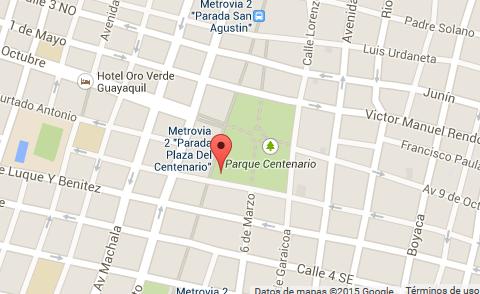 mapa Atractivos turísticos de la ciudad de Guayaquil Fuente de los Leones