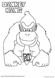 Donkey Kong Coloring Pages | Learn To Coloring