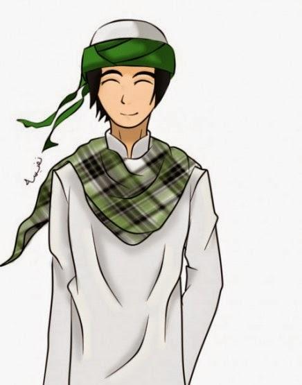 gambar Kartun Muslim sorban