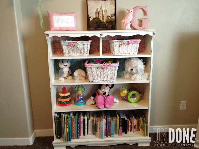 {The UNDONE Blog} Shabby Chic bookcase revamp - make a second hand bookcase look awesome!