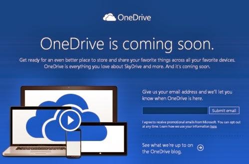 SkyDrive cambierà in OneDrive, questo è il nuovo nome del servizio di archiviazione online di Microsoft