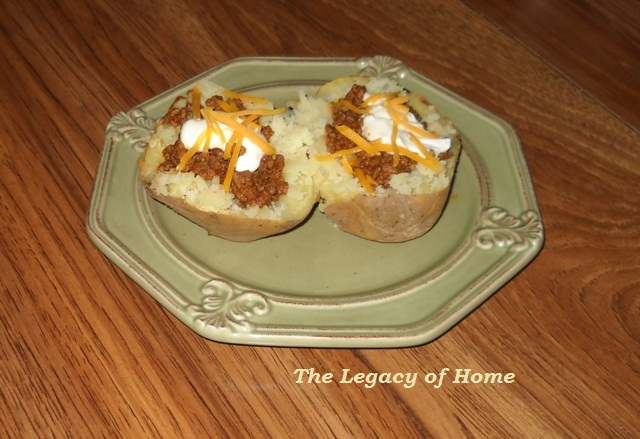 Sharon's Baked Potato Tacos