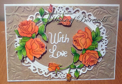 Diecut Divas, Outlawz Progressive, Sandi Samples Cabbage Roses