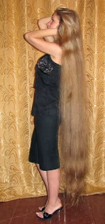 most beautiful girl floor length hair