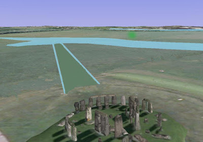Stonehenge showing path to Neolithic waters