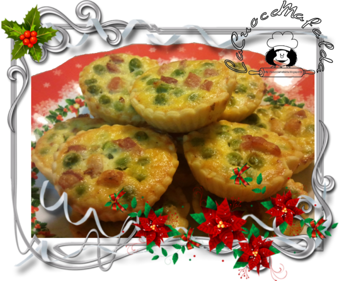 mini quiche ai piselli