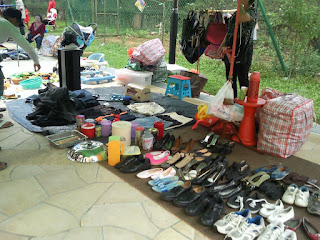 Flea Market selling used shoes