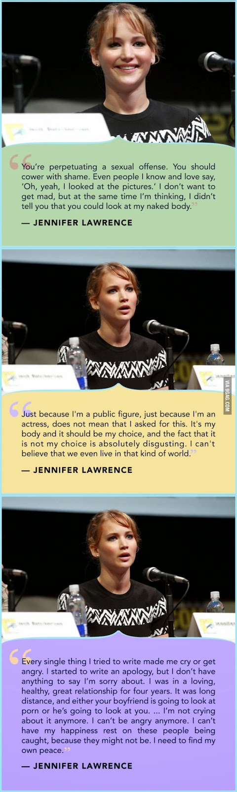 Jennifer Lawrence reacts to The Fappening