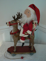 Santa on Reindeer Pull Toy