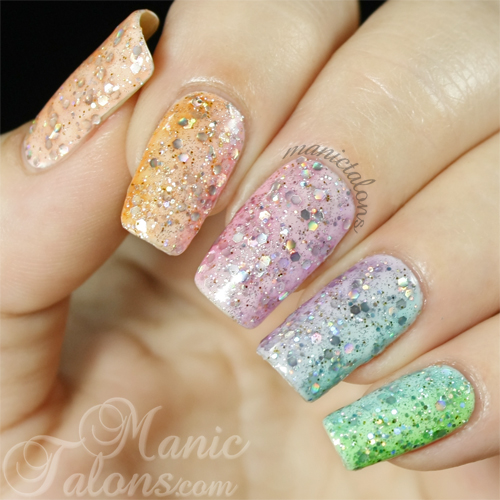 Rainbow Glitter Gradient with BMC Woodland Fantasy