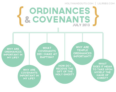 Holy Handouts: July: Ordinances and Covenants
