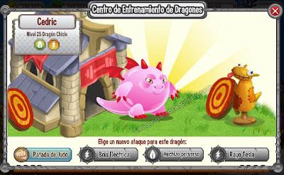 imagen de los ataques entrenados del dragon chicle