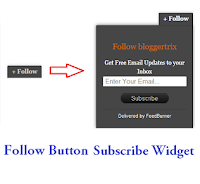 Add Rss Feed Follow Button Subscribe Widget