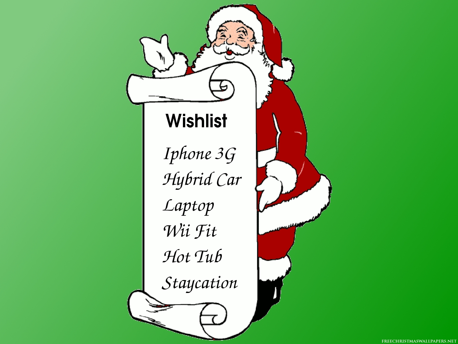 wish list new year templates