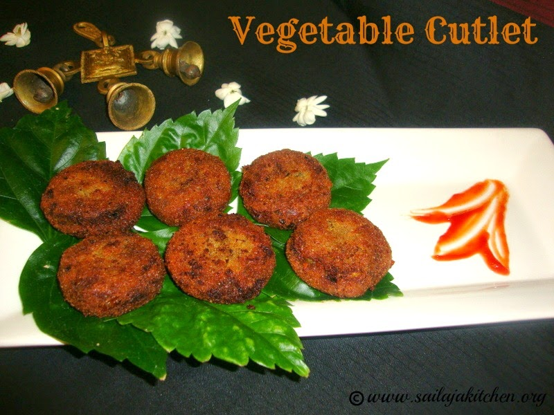 images for Vegetable Cutlets /Mixed Vegetable Cutlets -  How to make Vegetable Cutlets.